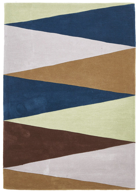Grande Cascade Modern Rug Blue Green Brown