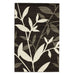 Flair Stunning Spring Leaf Rug Dark Brown