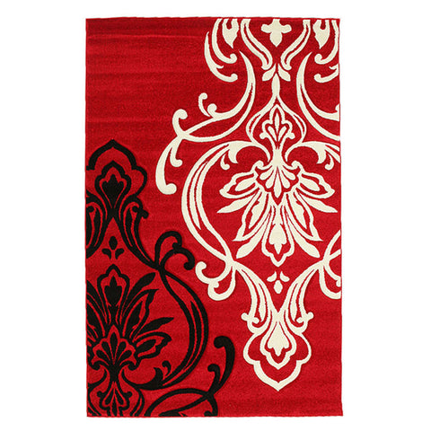 Flair Stunning Thick Designer Rug Red