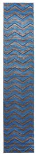 Flair Modern Chevron Design Rug Blue Grey