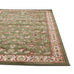 Valencia Traditional Floral Design Runner Rug Green