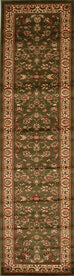 Valencia Traditional Floral Design Rug Green
