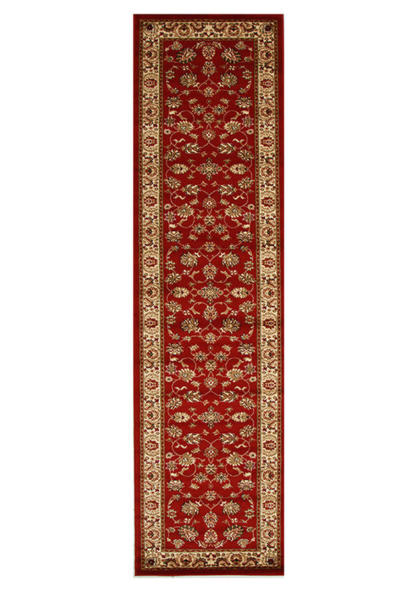 Valencia Traditional Floral Design Runner Rug Red