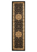 Valencia Medallion Classic Design Runner Rug Black