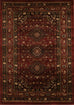 Valencia Traditional Shiraz Design Rug Burgundy Red