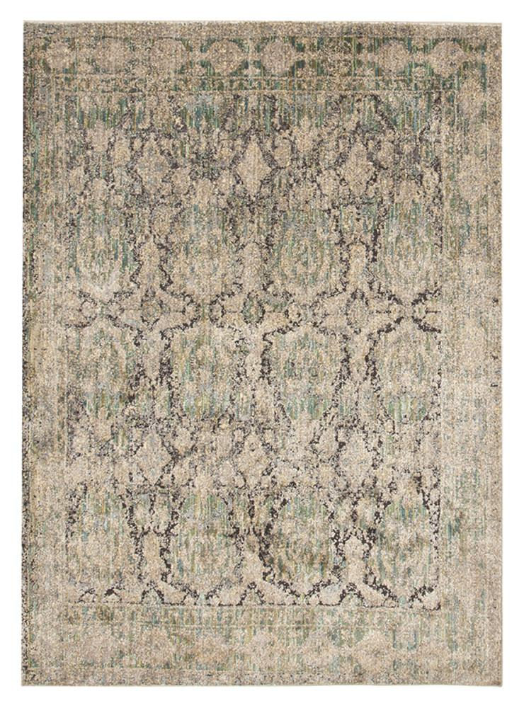 Fluid Dew Modern Green Rug