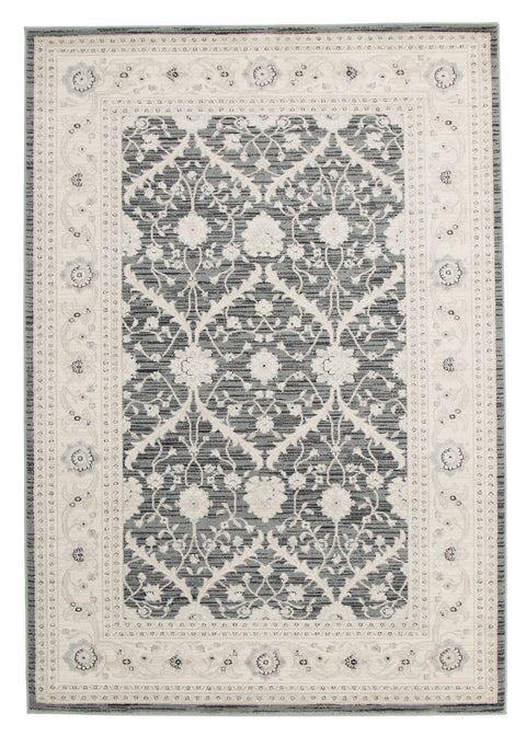 Diamond Chobi Design Rug Navy Grey Bone
