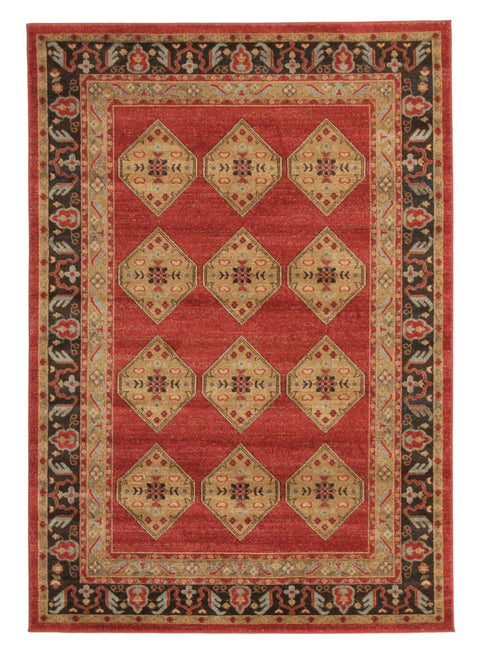 Diamond Shiraz Design Rug Red