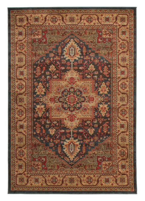 Diamond Antique Heriz Design Rug Multi