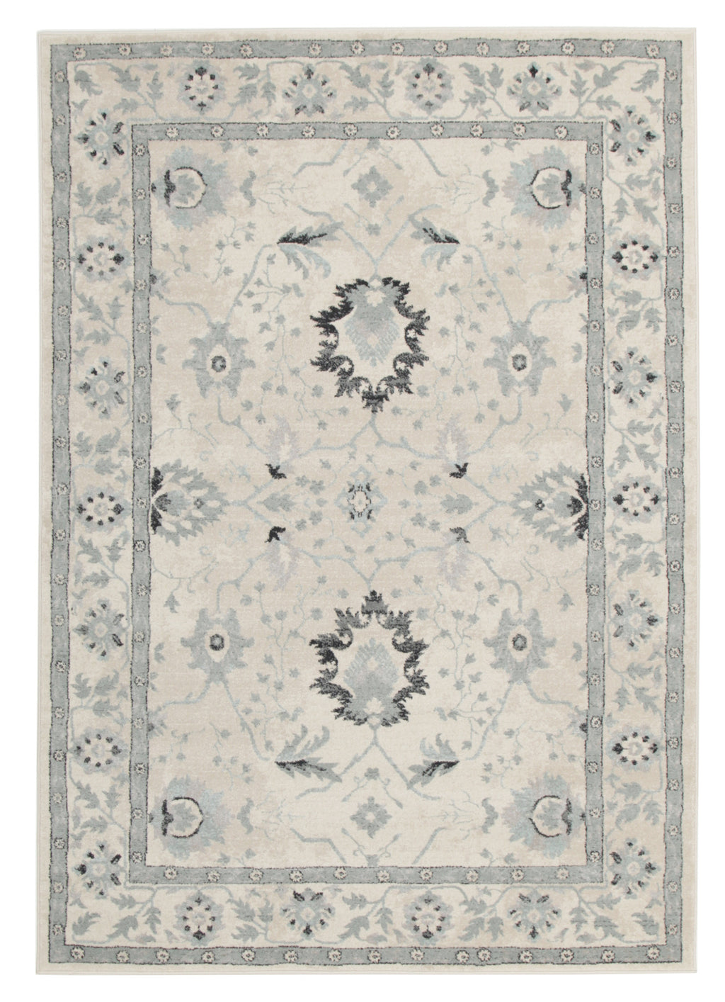 Diamond Nain Persian Design Rug Bone Blue Navy