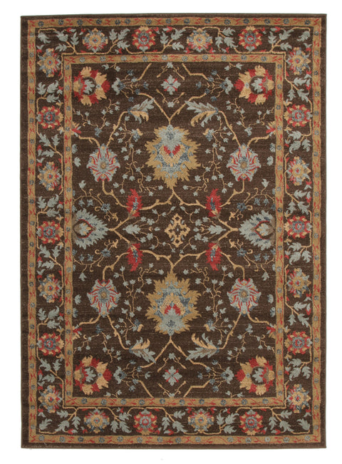 Diamond Nain Persian Design Rug Brown Red