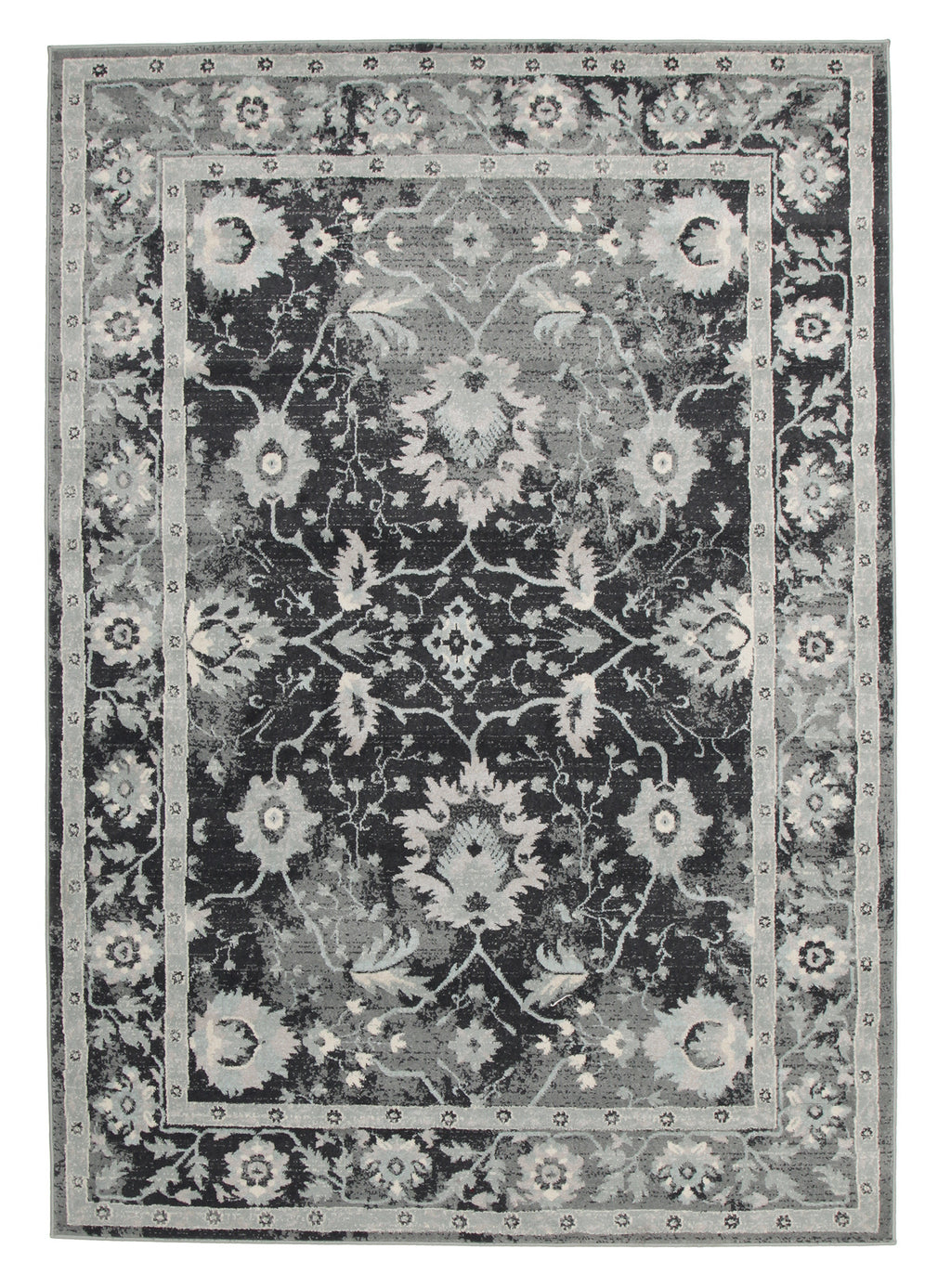 Diamond Nain Persian Design Rug Navy Blue Grey