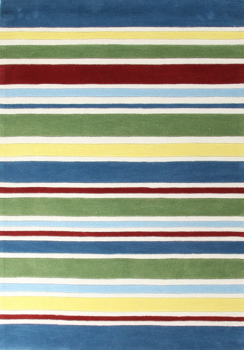 Kids Space Primary Coloured Stripes Children's Rug
