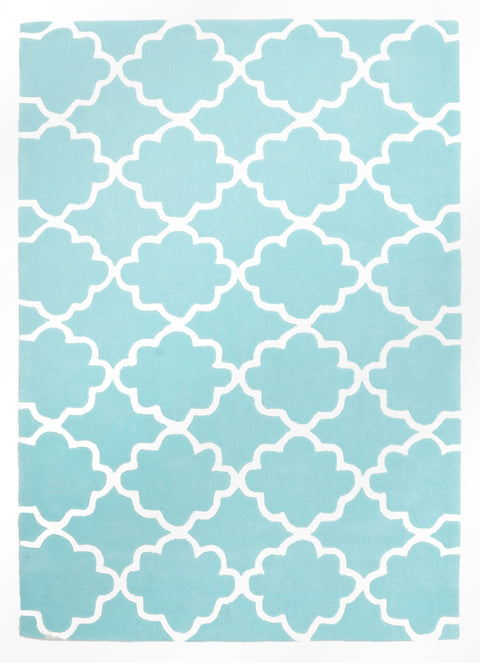 Kids Space Kids Trellis Design Soft Blue Rug