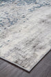 Farah Distressed Contemporary Rug White Blue Grey