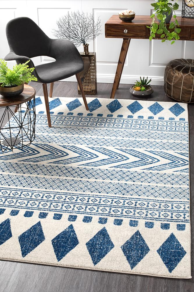 Adani  Modern Tribal Design Navy Rug