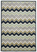 Galaxy Indoor Outdoor Chevron Rug Navy