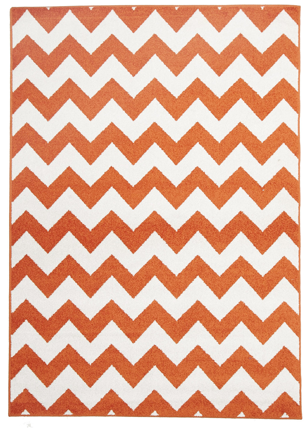 Galaxy Indoor Outdoor Zig Zag Rug Orange