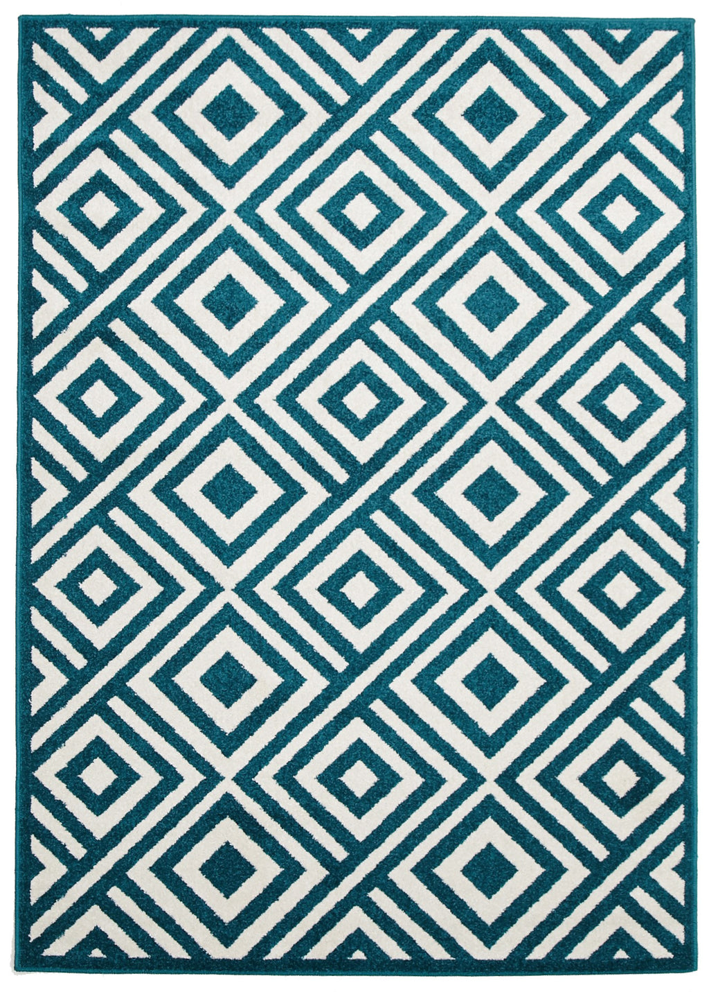 Galaxy Indoor Outdoor Matrix Rug Peacock Blue