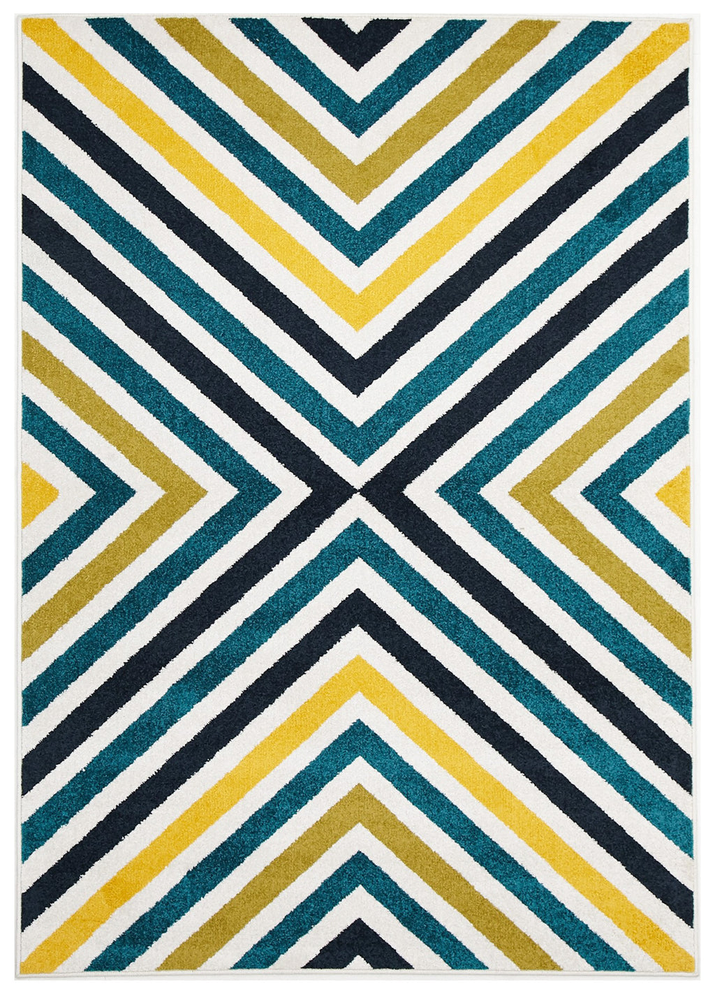 Galaxy Indoor Outdoor Hex Rug Blue Blue Navy
