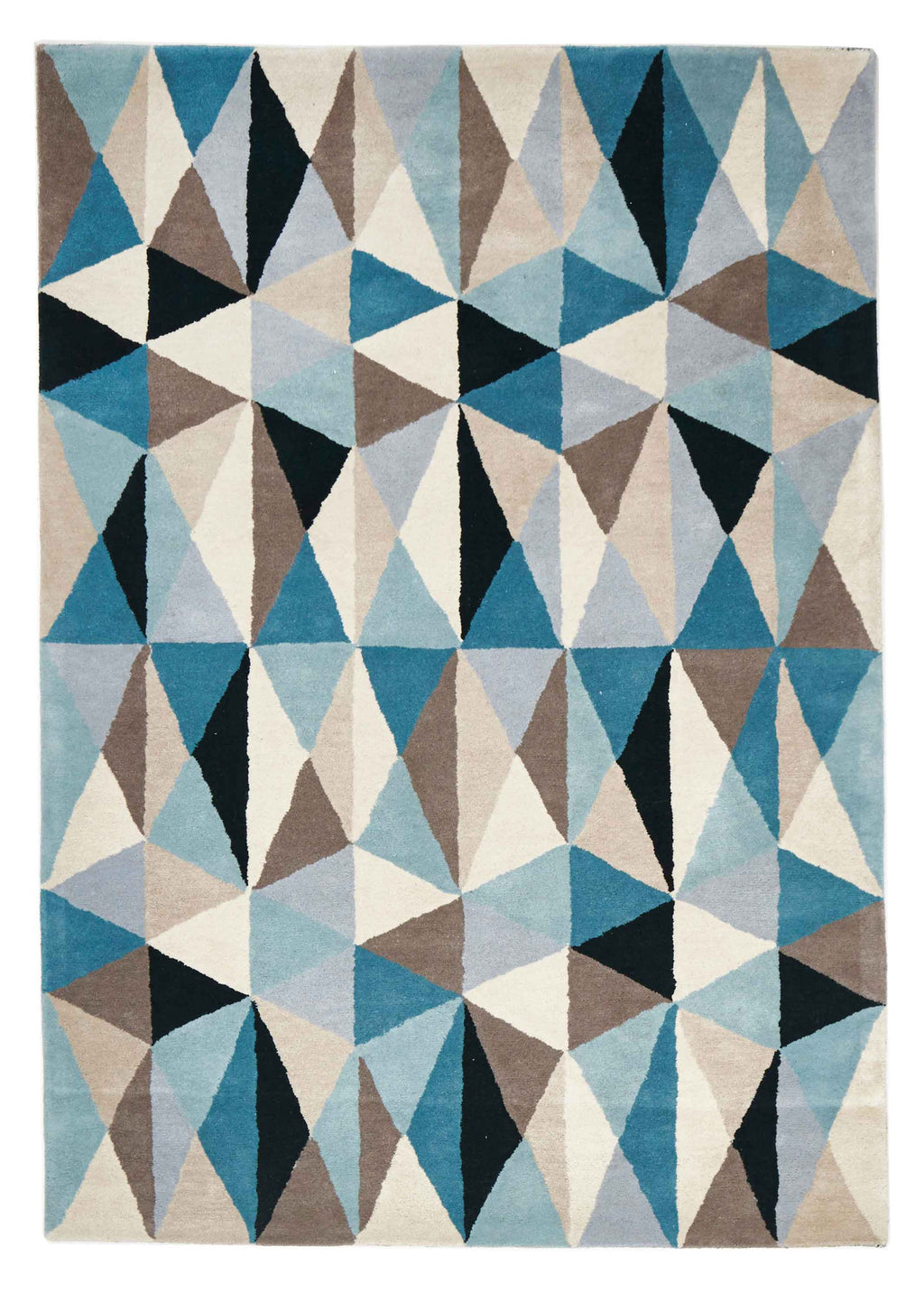 Laura Gem Stone Designer Wool Rug Blue
