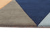 Laura Prism Designer Wool Runner Rug Rust Blue Navy