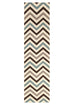 Rio Flat Weave Chevron Design Runner Rug Blue Brown