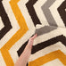 Rio Flat Weave Design Rug Yellow Brown