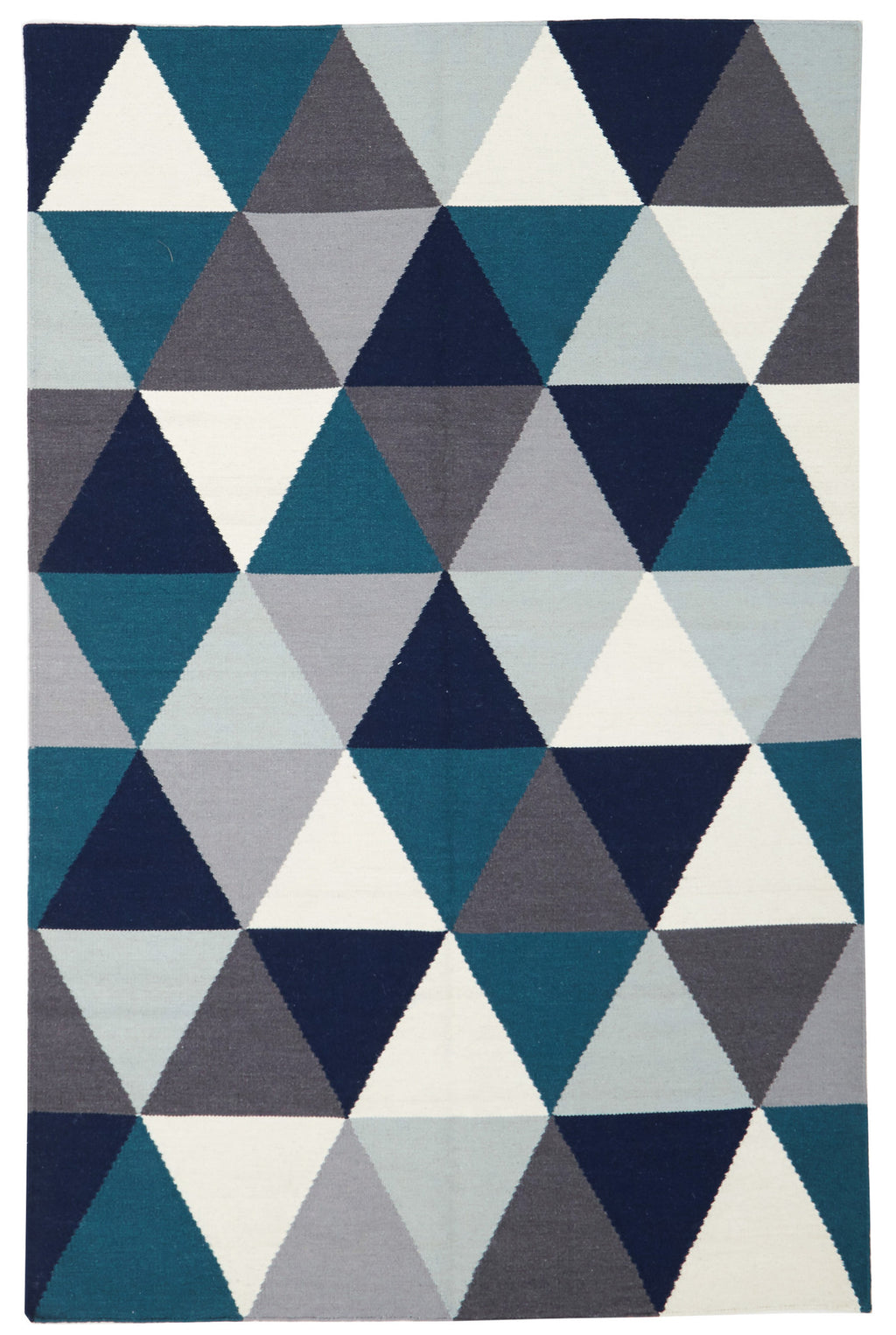 Rio Prism Flat Weave Rug Blue