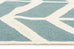Rio Chevron Flat Weave Runner Rug Blue