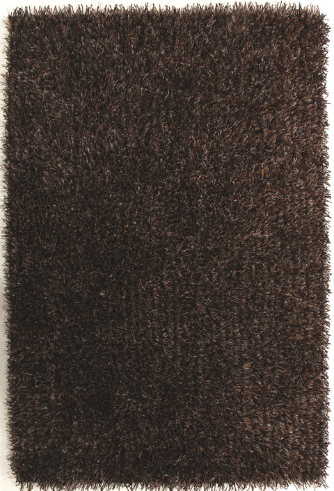 Vagas Metallic Thick, Thin Shag Rug Brown and Beige