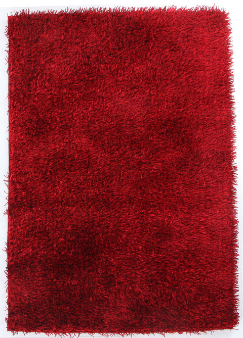 Vagas Metallic Thick, Thin Shag Rug Red