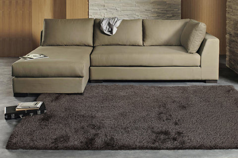 Finland Plush Luxury Shag Rug Ash Grey Brown
