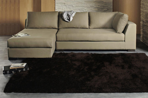 Finland Plush Luxury Shag Rug Choc