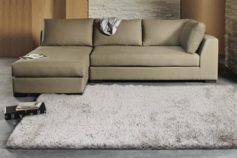 Finland Plush Luxury Shag Rug Silver Taupe Mix