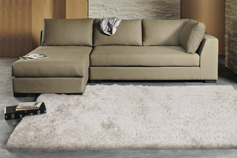 Finland Plush Luxury Shag Rug Natural