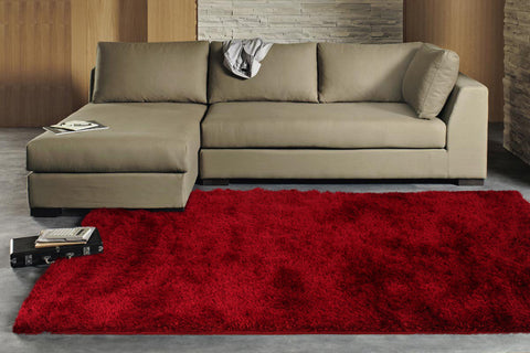 Finland Plush Luxury Shag Rug Red