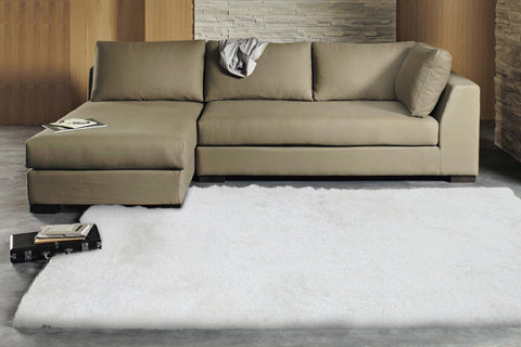 Finland Plush Luxury Shag Rug Crisp White