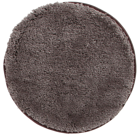 London Texture Round Shag Rug Dark Brown