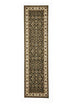 Shiraz Classic Runner Rug Green with Ivory Border