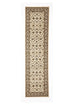 Shiraz Classic Runner Rug Ivory with Ivory Border