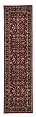 Shiraz Classic Rug Red with Black Border