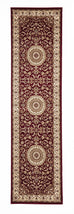 Shiraz Medallion Rug Red with Ivory Border