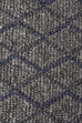 Ida Luxury Madras Felted Wool Rug Blue Grey