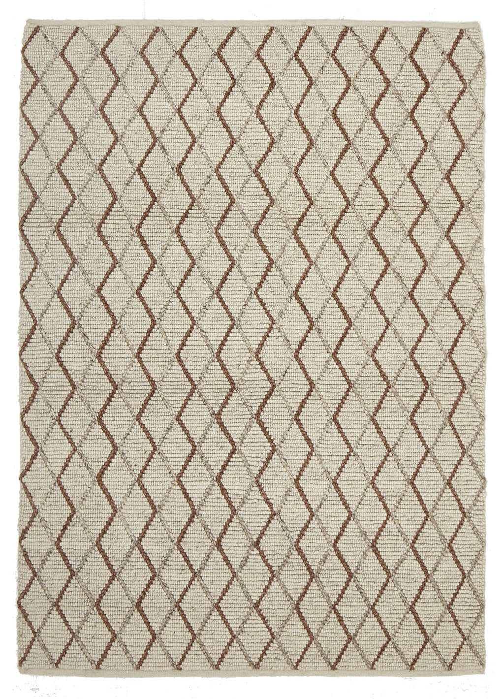 Ida Luxury Madras Felted Wool Rug Blue Copper