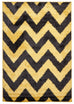 Vista Ziggy Shag Rug Yellow Charcoal