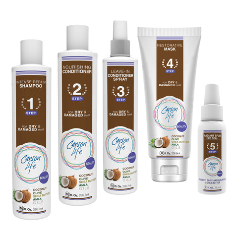 Coconut, Hair Repair System • Bundle w/ Spray, Leave-in Conditioner