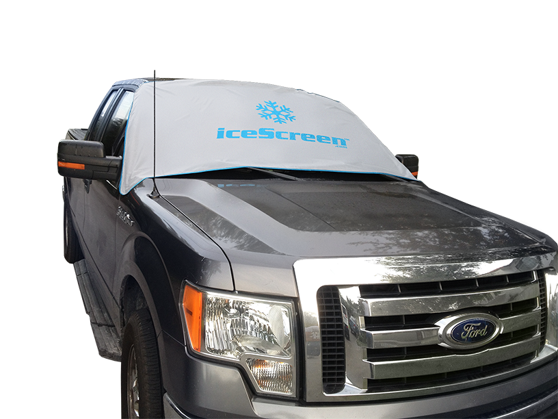 icescreen magnetic white van snow cover