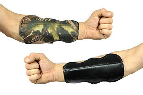 Reversible 3 Buckle Armguard Black & Camo - 7.5 inch High Quality Durable