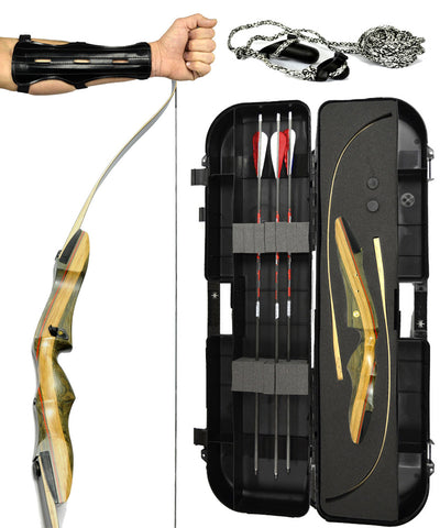 "Spyder 62"" Takedown Recurve Bow - Ready 2 Shoot Archery Set"